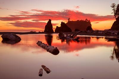 Washington State, Olympic National Park, Ruby Beach, Sunset, 华盛顿州, 奧林匹克國家公園