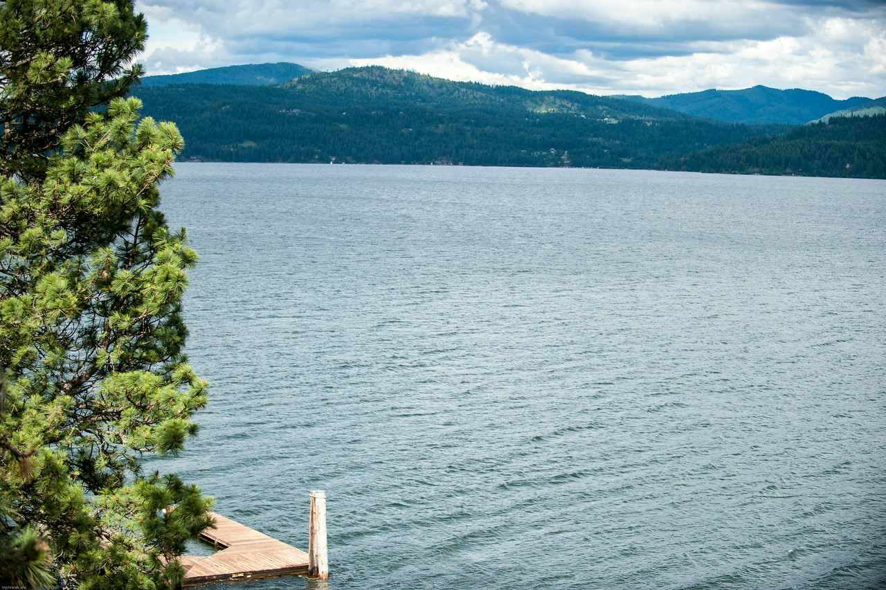 The view from my lodgings at Lake Coeur d'Alene.