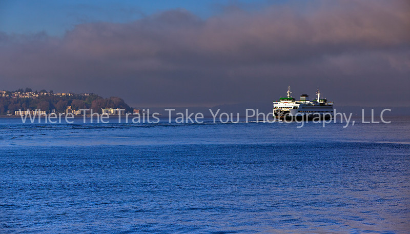 7  Ferry Traversing Elliott Bay, WA