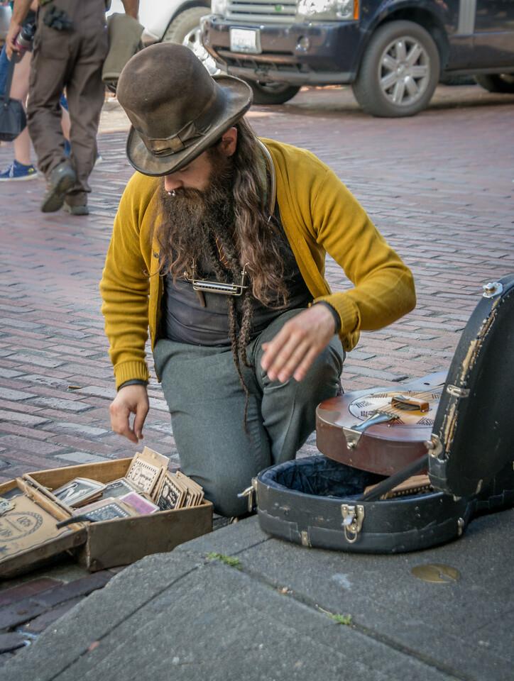 Farmer's Market Street Performer