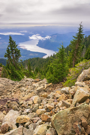 Lake Cushman from Mount Ellinor in the Olympic National Forest