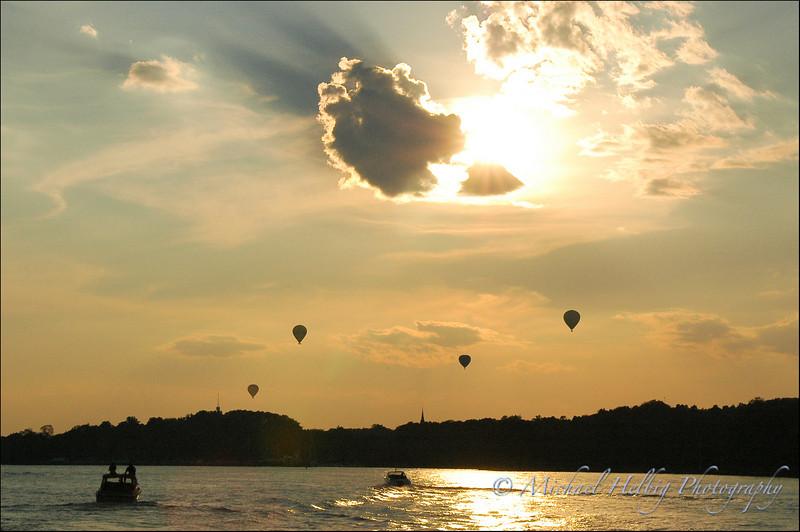 Hot-air Balloon Sunset - Stockholm