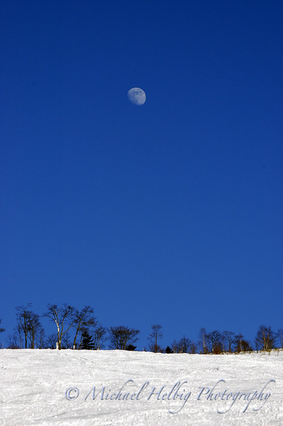 Afternoon Moon - Nagano Prefecture