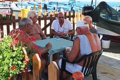 Playing Cards at the Beach, Monterosso al Mare