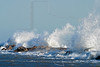 Crashing Waves, Galveston Jetty,<br /> East Beach, Galveston, Texas