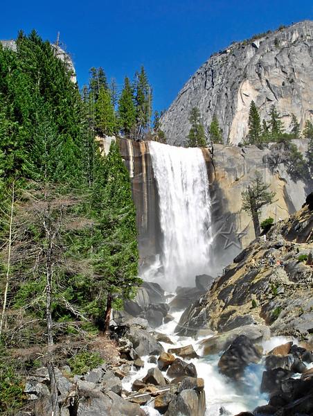 Vernal Falls,<br /> Merced River, 317 feet,<br /> Yosemite National Park, Califormia