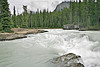 Natural Bridge Falls on Kicking Horse River,<br /> High Flow in June,<br /> Yoho National Park, British Columbia