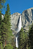 Upper and Lower Yosemite Falls,<br /> Yosemite Creek, Upper 1430, Lower 320 feet,<br /> Yosemite National Park