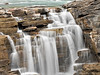 Athabasca Falls, Low Rate,<br /> Icefields Parkway,<br /> Jasper National Park, Alberta, Canada