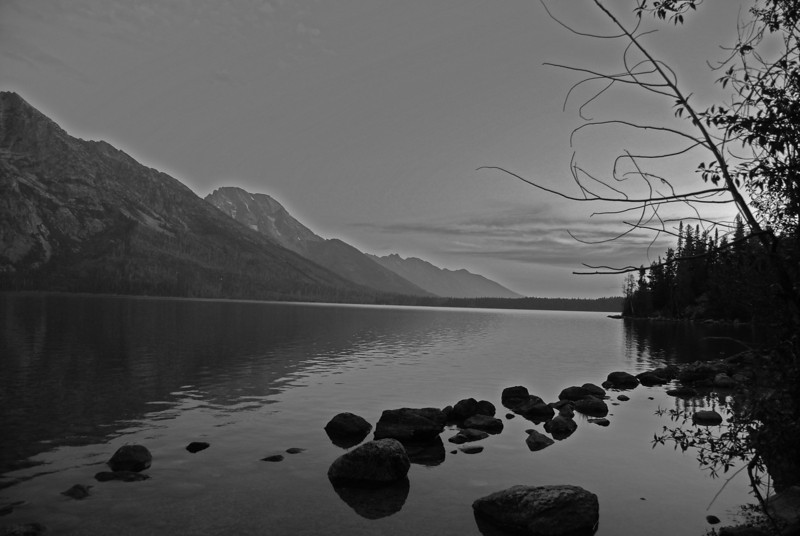 Early Morning, Jenny Lake at the foot of The Grand Tetons