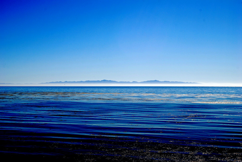 This is a photograph of an island that is West of Santa Barbara, CA.