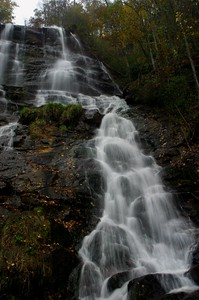 "This is the uppermost section of the falls at Amicalola Falls (which means ""Tumbling Waters"").  This was taken in October, 2004."