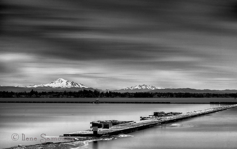 6-16-13 This is a 5.5 minute long exposure of Mount Baker taken from Semiahmoo, WA.