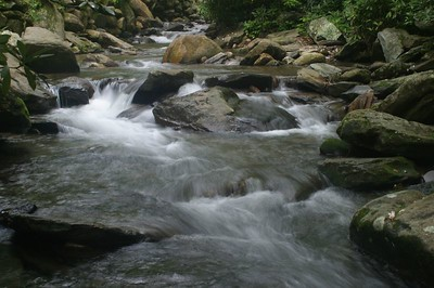 Another shot of the stream upstream from Lake Susan in Montreat, NC.