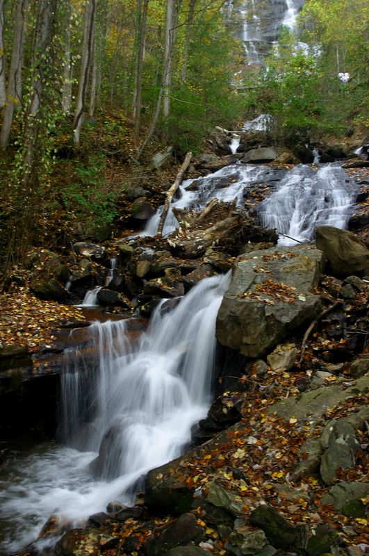 One of my favorite shots of Amicalola Falls.  This image comprises about the middle third of the falls.