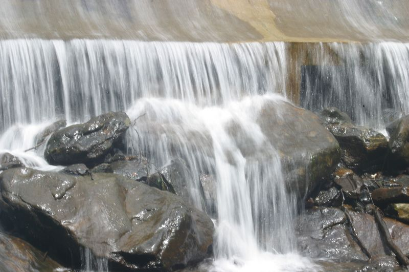 A good shot of the water as it cascades over the rocks at the base of the Lake Susan dam.