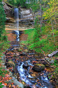 Munising Falls, Michigan Upper Peninsula