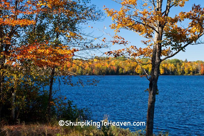 Autumn on Bass Lake, Gogebic County, Michigan