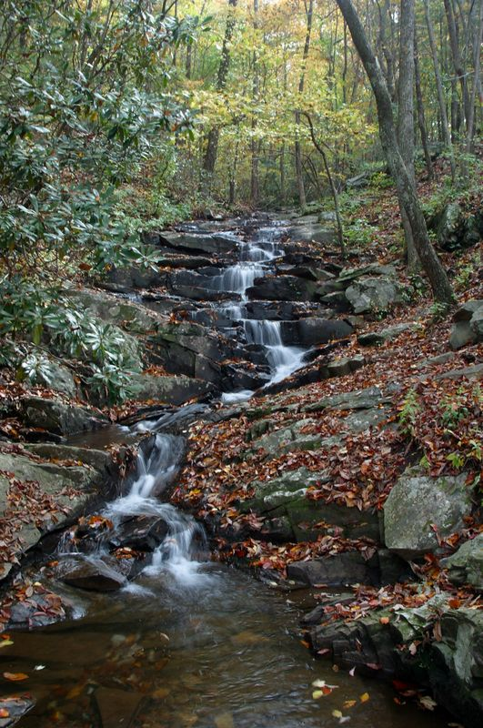 Another section of the Big Rock falls at Fort Mountain State Park (October 2004)