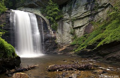 Looking Glass falls in spring, Smoky Mountains, NC