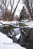 Winter Scene with Flowing Stream, Dane County, Wisconsin