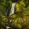 Amanda's Falls, Taranaki/Egmont National Park.<br /> North Island, New Zealand