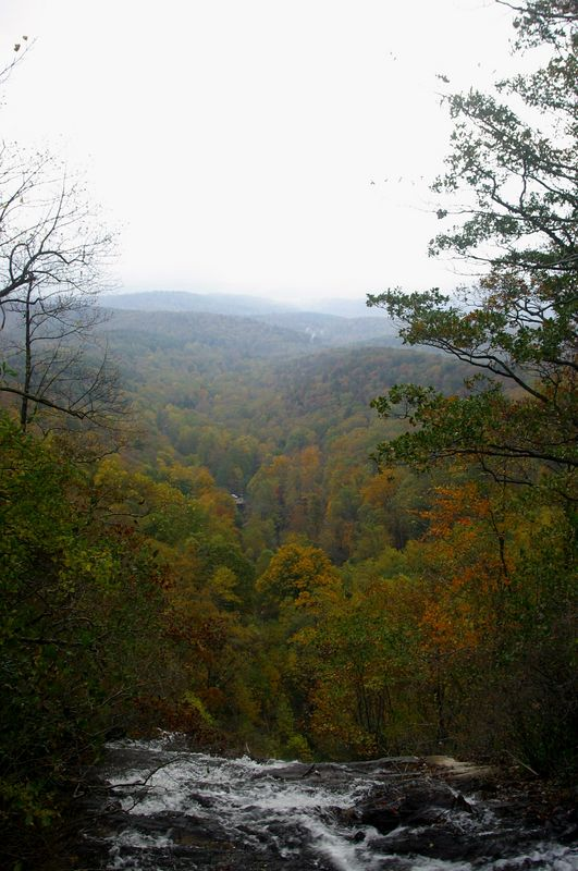 A view from the top of Amicalola Falls, which is one of the tallest falls in the Eastern U.S.  The Fall shot was taken in October, 2004.