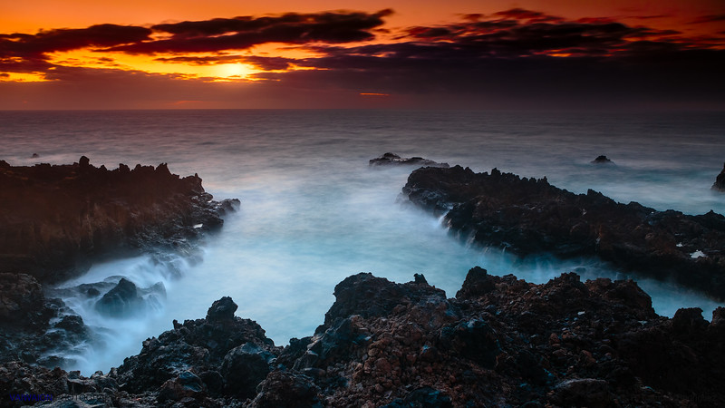 Dawn at the Volcanic Coast