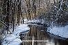 First Snowfall at Pheasant Branch Creek, Middleton, Wisconsin
