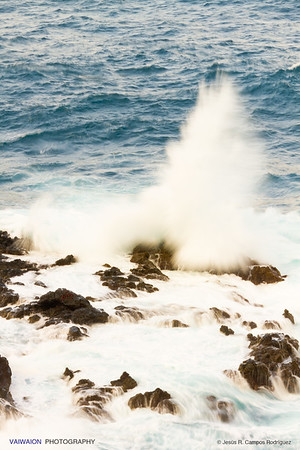 Breaking waves. La Palma island, Canary Islands. Spain.