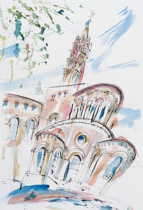 The main cathedral, Toulouse, France