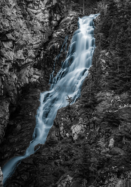 Gorgeous Waterfall in the Absaroka-Beartooth Wilderness, Montana