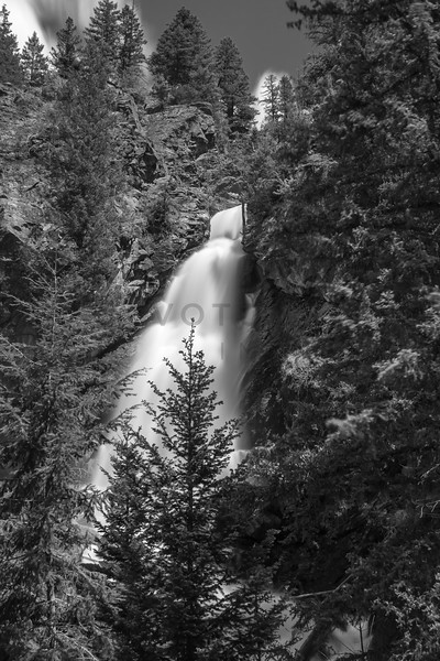 Holland Falls, Swan Valley, Montana - Monochrome