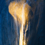 """Heart over Horsetail Falls""  Yosemite National Park.  Sunset Spring 2009.  I captured this during another outing to capture Horsetail Falls.   The water flow over the falls was pretty low this winter.  As I was shooting I noticed the winds picking up.  Some gusts picked up the trickle of the falls and it puffed up like a cloud - the sun shining on the mist and I froze this moment.   This year was almost non-existent for capturing any good Horsetail Falls pictures since it was cloudy and snowing much of February this year - I guess that is what makes this such a hard picture to take since the window for good images is only a few weeks.    For more information on Horsetail falls and my award winning ""Nature's Firefalls"" image see this.  <a href=""http://www.jharrisonphoto.com/gallery/2747559_ghkMc/1/281579766_t4hmN/Medium"">http://www.jharrisonphoto.com/gallery/2747559_ghkMc/1/281579766_t4hmN/Medium</a>"