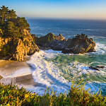 """McWay Falls at Sunset in the Spring"" Big Sur, California D818823"
