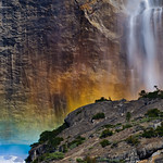 Rainbows on Yosemite Falls.  Yosemite National Park, Aperture Nature Photography Workshop trip, ANPW.