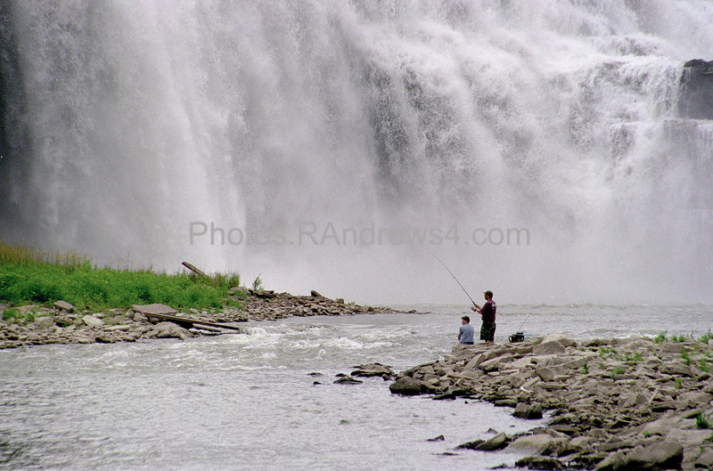 Fishing near Lower Falls of the Genesee, Rochester, NY