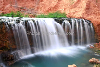 Rock Falls on Havasu Creek near Supai village, AZ