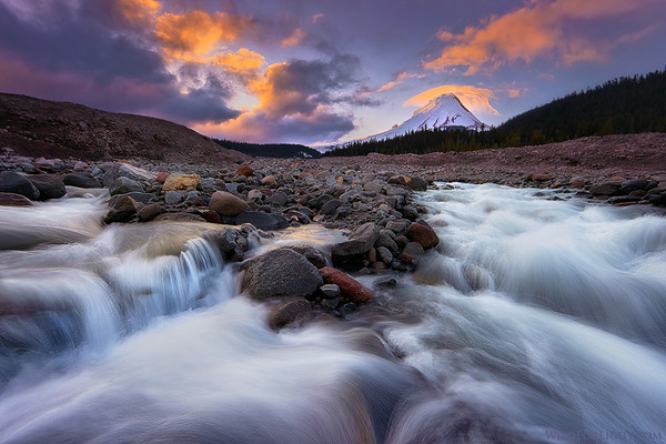 White River Sunset, Mt Hood - Oregon