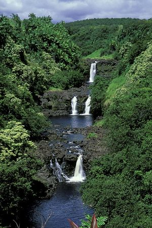 Umauma Falls, Hawaii,<br /> ( Central Pacific Ocean )<br /> 1