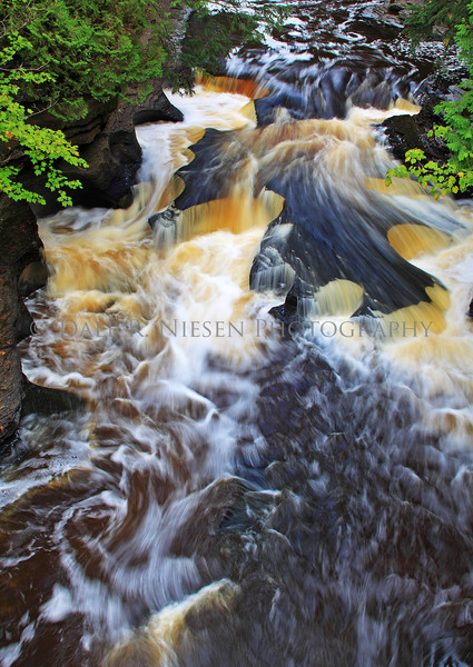 Presque Isle River Cascades located in the Porcupine Mountains State Park near Ontonagon in Michigan's Upper Peninsula.