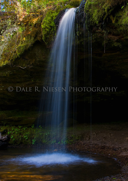 Scott Falls is a waterfall located along highway M-28 in Alger County, Michigan near the town of Au Train, Michigan