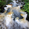 Presque Isle River Cascades located in the Porcupine Mountains State Park near Ontonagon in Michigan's Upper Peninsula.