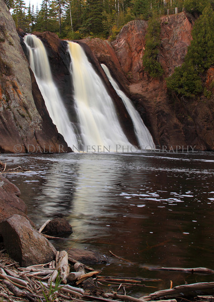 The High Falls of the Baptism River is loacated in Minnesota's Tettegouche State Park