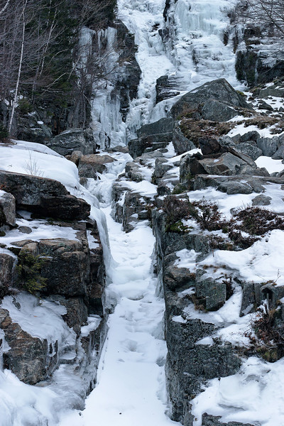 Silver Cascade, White Mountains (I think this was in winter).