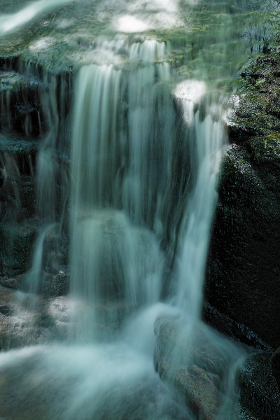Upper Salroc Falls, New Hampshire (The green color is reflected light from the trees surrounding the falls)