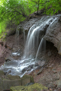 Norton Falls - a small creek plunges into the Genesee River gorge