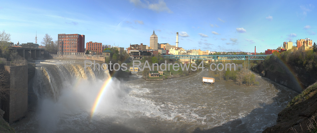 High Falls Rainbow Panorama