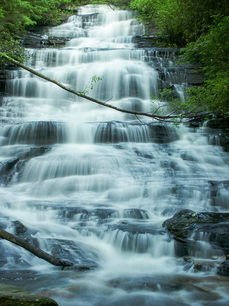Minnehaha waterfall, located in Northeast Georgia, in Lake Rabun Recreational Area.