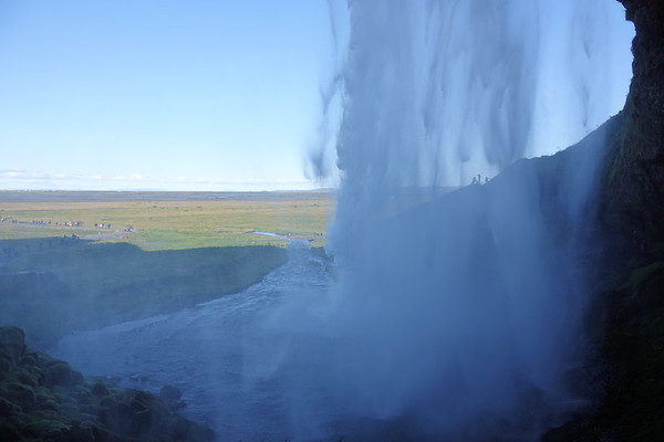 Behind Skogafoss Waterfall
